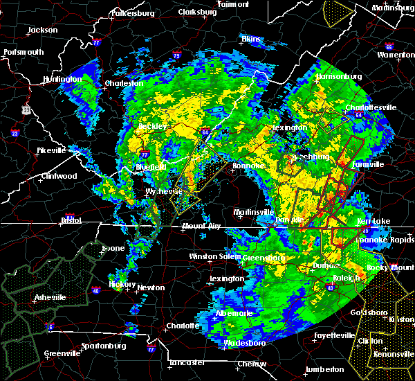 Radar Image for Severe Thunderstorms near Hiwassee, VA at 4/19/2019 5:56 PM EDT