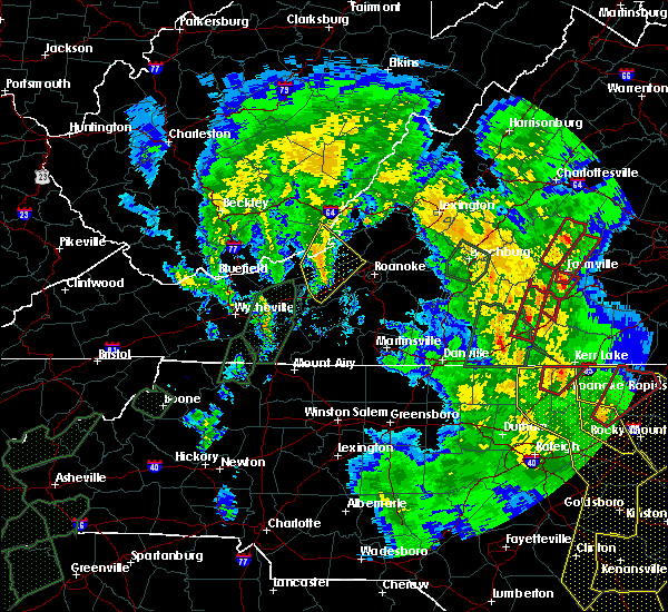 Radar Image for Severe Thunderstorms near Charlotte Court House, VA at 4/19/2019 6:12 PM EDT
