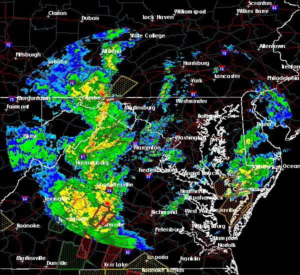 Radar Image for Severe Thunderstorms near Hancock, MD at 4/19/2019 6:31 PM EDT