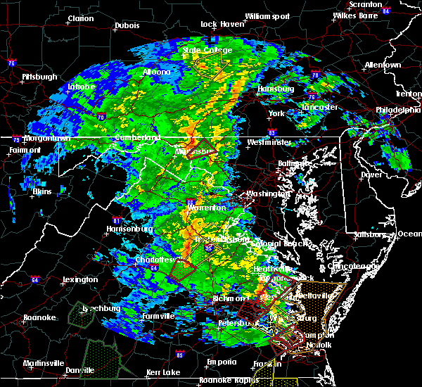 Radar Image for Severe Thunderstorms near Fairplay, MD at 4/19/2019 8:09 PM EDT