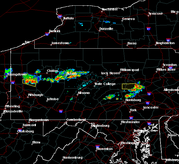 Radar Image for Severe Thunderstorms near Hometown, PA at 6/11/2015 5:35 PM EDT