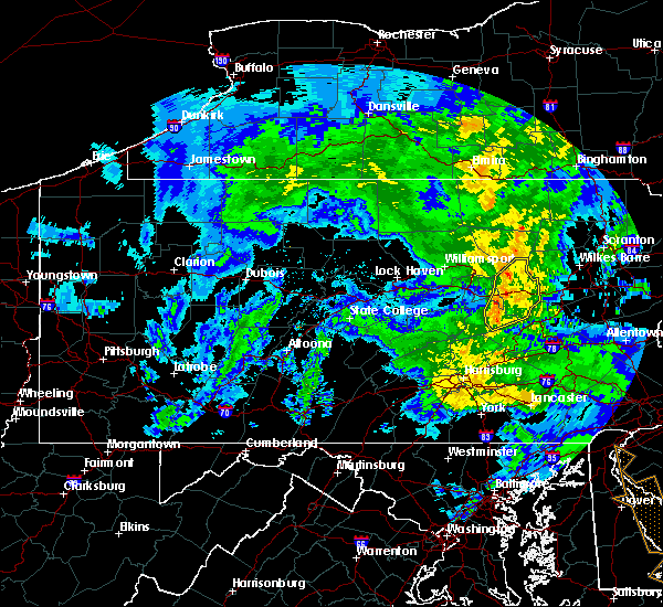 Radar Image for Severe Thunderstorms near Almedia, PA at 4/19/2019 10:19 PM EDT