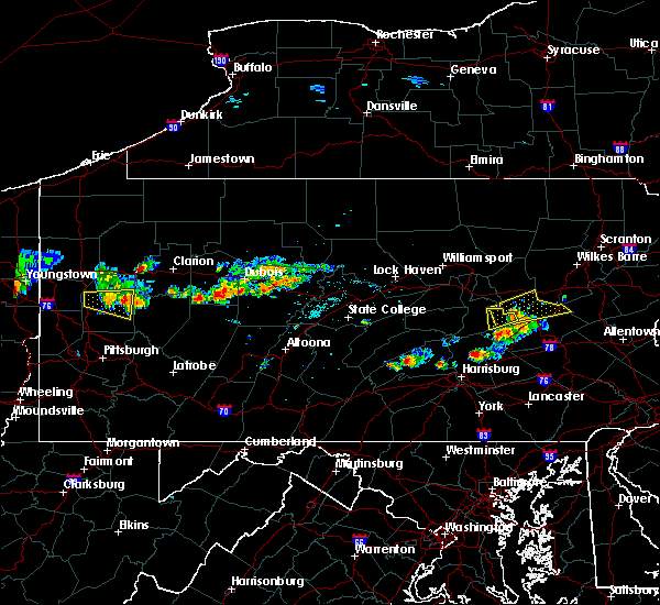 Radar Image for Severe Thunderstorms near Rossiter, PA at 6/11/2015 5:45 PM EDT