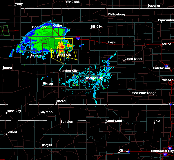 Radar Image for Severe Thunderstorms near Healy, KS at 4/21/2019 5:56 PM CDT