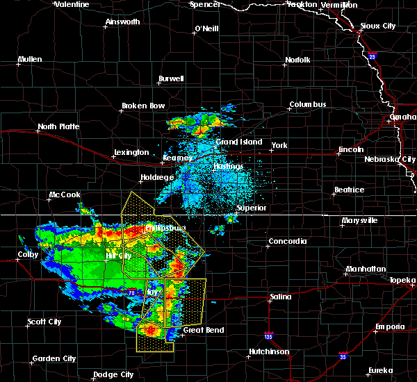 Radar Image for Severe Thunderstorms near Stockton, KS at 4/21/2019 8:16 PM CDT