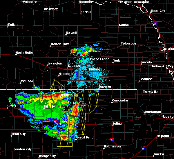 Radar Image for Severe Thunderstorms near Orleans, NE at 4/21/2019 8:25 PM CDT