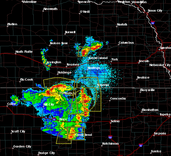 Radar Image for Severe Thunderstorms near Red Cloud, NE at 4/21/2019 8:56 PM CDT