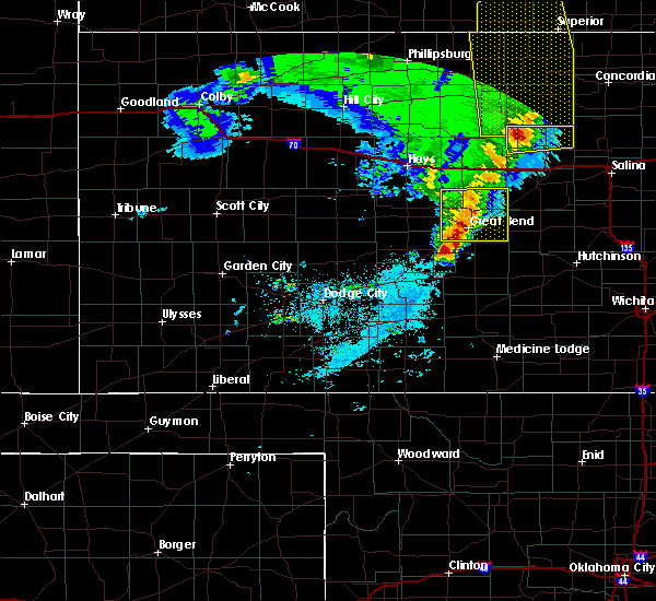 Radar Image for Severe Thunderstorms near Albert, KS at 4/21/2019 9:05 PM CDT