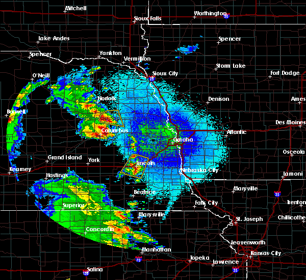 Radar Image for Severe Thunderstorms near Howells, NE at 4/21/2019 11:17 PM CDT