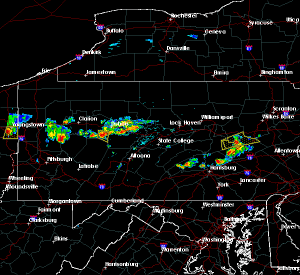 Radar Image for Severe Thunderstorms near Rossiter, PA at 6/11/2015 5:56 PM EDT