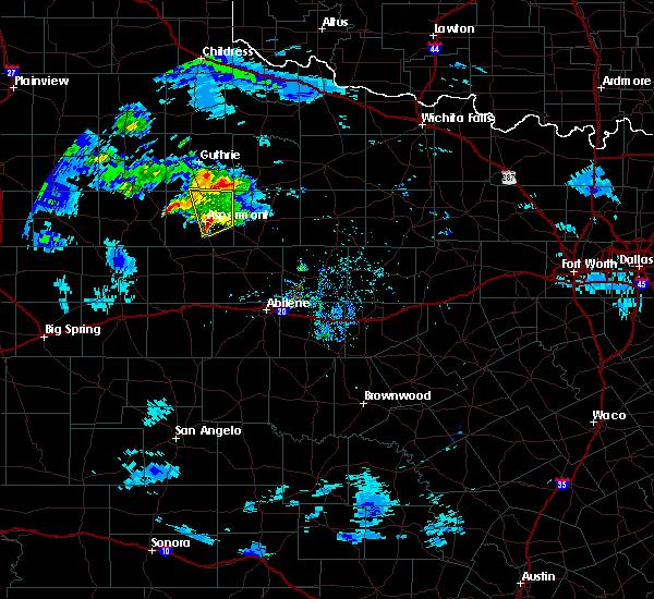 Radar Image for Severe Thunderstorms near Aspermont, TX at 4/22/2019 8:20 PM CDT