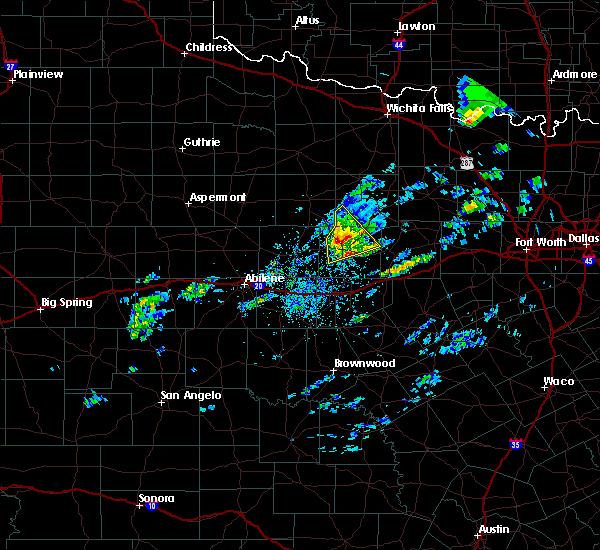 Radar Image for Severe Thunderstorms near Breckenridge, TX at 4/23/2019 3:03 PM CDT