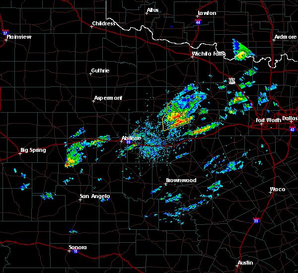 Radar Image for Severe Thunderstorms near Breckenridge, TX at 4/23/2019 3:13 PM CDT
