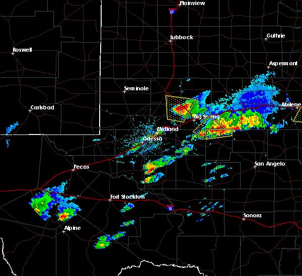 Radar Image for Severe Thunderstorms near Forsan, TX at 4/23/2019 5:47 PM CDT