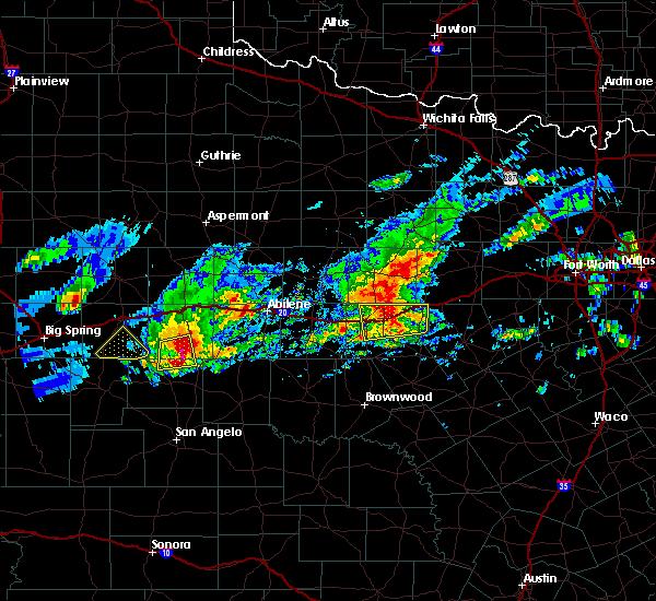 Radar Image for Severe Thunderstorms near Ranger, TX at 4/23/2019 7:01 PM CDT