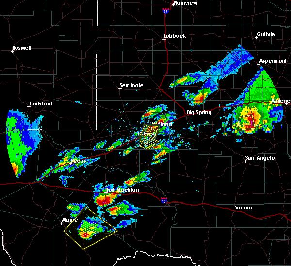 Radar Image for Severe Thunderstorms near Marathon, TX at 4/23/2019 7:01 PM CDT