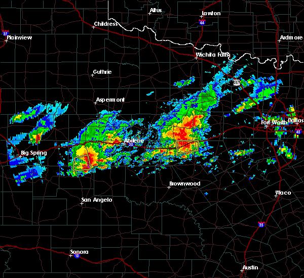 Radar Image for Severe Thunderstorms near Ranger, TX at 4/23/2019 7:11 PM CDT