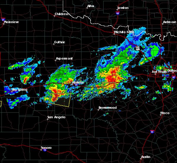 Radar Image for Severe Thunderstorms near Ranger, TX at 4/23/2019 7:25 PM CDT