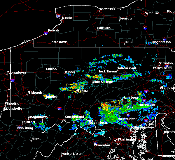 Radar Image for Severe Thunderstorms near Carlisle, PA at 4/23/2019 8:56 PM EDT