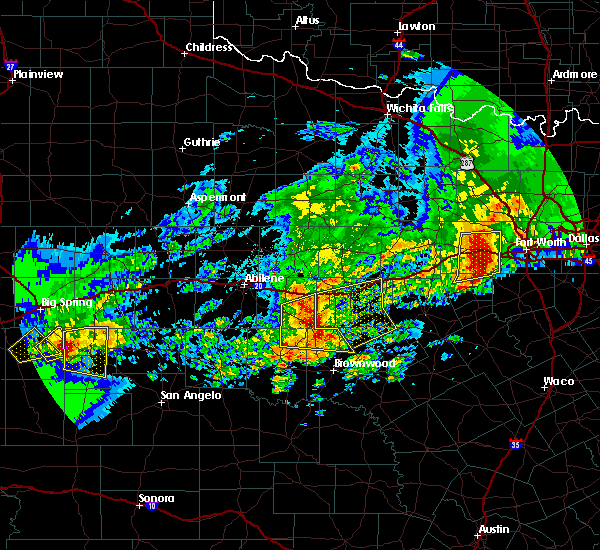 Radar Image for Severe Thunderstorms near Cross Plains, TX at 4/23/2019 9:09 PM CDT