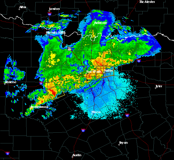 Radar Image for Severe Thunderstorms near Addison, TX at 4/23/2019 10:35 PM CDT