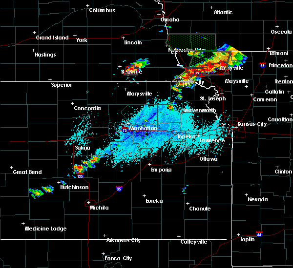 Radar Image for Severe Thunderstorms near Preston, NE at 6/11/2015 5:12 PM CDT