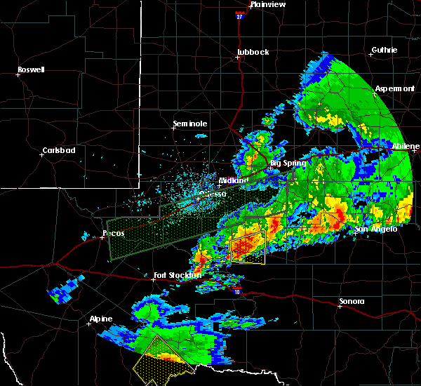 Radar Image for Severe Thunderstorms near Rankin, TX at 4/23/2019 11:46 PM CDT