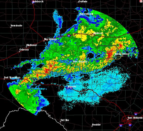 Radar Image for Severe Thunderstorms near Big Lake, TX at 4/24/2019 12:50 AM CDT