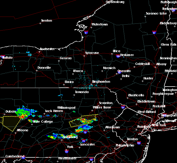 Radar Image for Severe Thunderstorms near Conyngham, PA at 6/11/2015 6:15 PM EDT