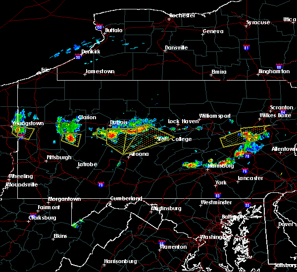 Radar Image for Severe Thunderstorms near Hawk Run, PA at 6/11/2015 6:17 PM EDT