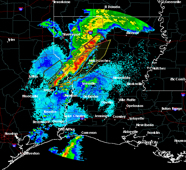 Radar Image for Severe Thunderstorms near Saline, LA at 4/25/2019 1:16 AM CDT