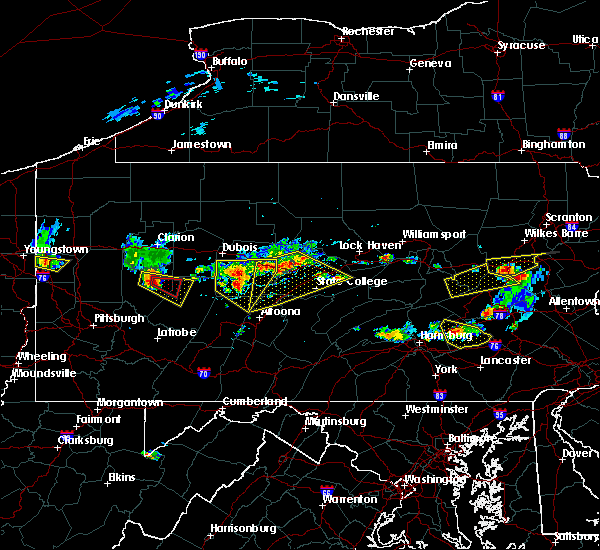 Radar Image for Severe Thunderstorms near Gordon, PA at 6/11/2015 6:26 PM EDT