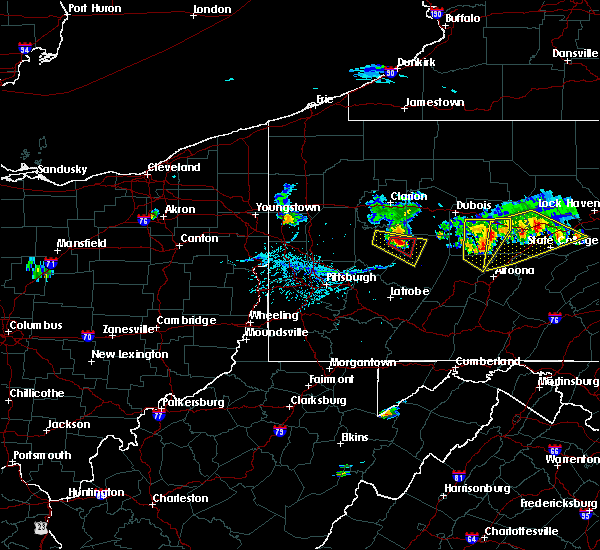 Radar Image for Severe Thunderstorms near Smicksburg, PA at 6/11/2015 6:34 PM EDT