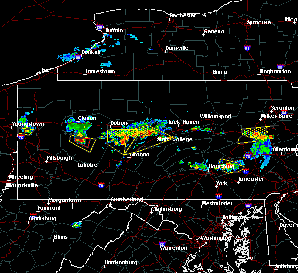 Radar Image for Severe Thunderstorms near Wallaceton, PA at 6/11/2015 6:34 PM EDT