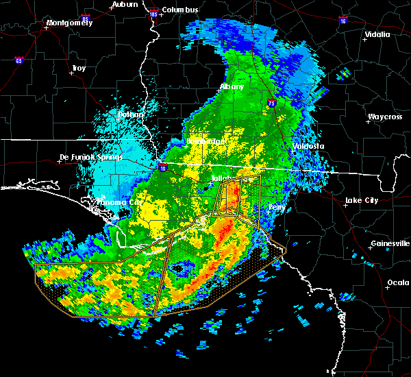 Radar Image for Severe Thunderstorms near Tallahassee, FL at 4/26/2019 12:18 AM EDT