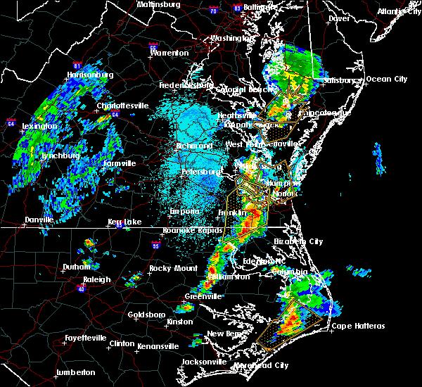 Radar Image for Severe Thunderstorms near Portsmouth, VA at 4/26/2019 12:26 PM EDT