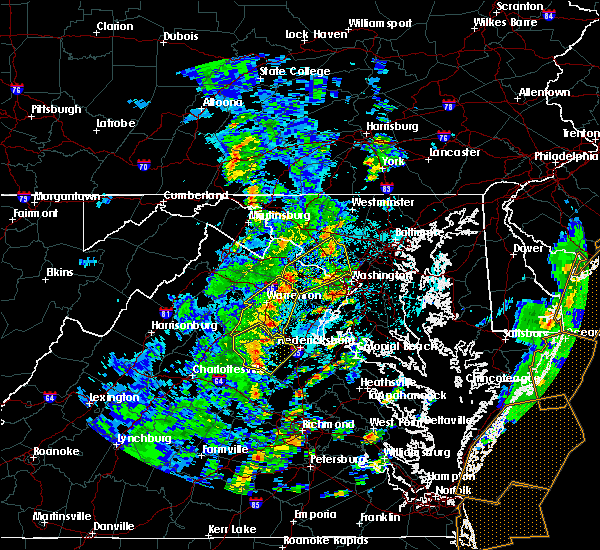 Radar Image for Severe Thunderstorms near Fairfax, VA at 4/26/2019 2:24 PM EDT
