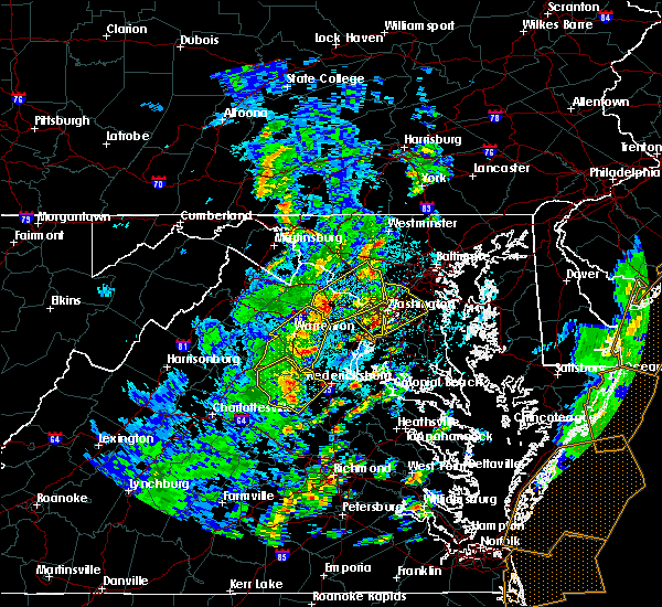 Radar Image for Severe Thunderstorms near Lanham, MD at 4/26/2019 2:30 PM EDT