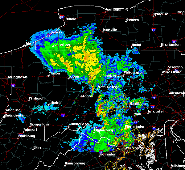 Radar Image for Severe Thunderstorms near Carlisle, PA at 4/26/2019 2:54 PM EDT