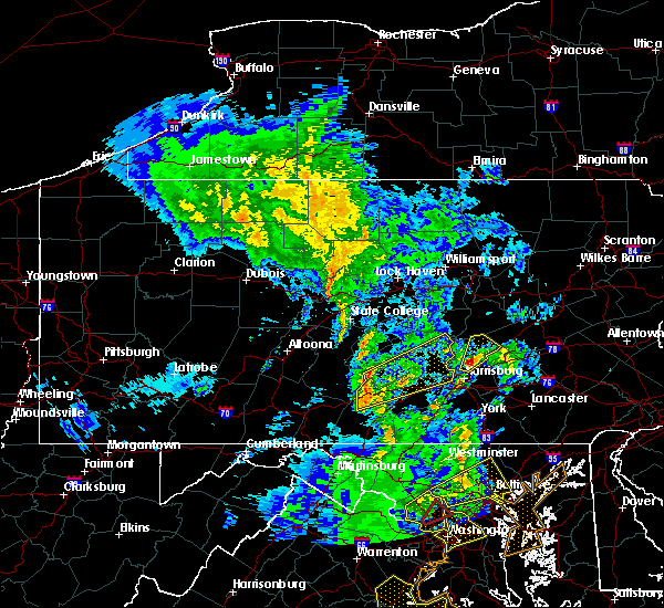 Radar Image for Severe Thunderstorms near Pillow, PA at 4/26/2019 2:57 PM EDT