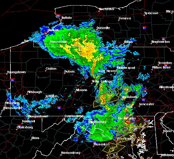 Radar Image for Severe Thunderstorms near Pillow, PA at 4/26/2019 3:16 PM EDT