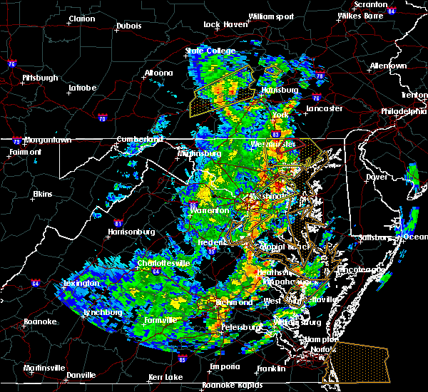 Radar Image for Severe Thunderstorms near Woodmore, MD at 4/26/2019 3:22 PM EDT