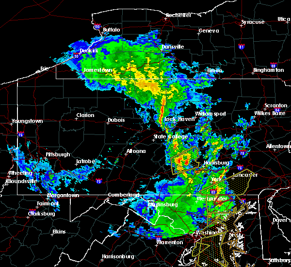 Radar Image for Severe Thunderstorms near Carlisle, PA at 4/26/2019 3:28 PM EDT