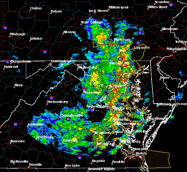 Radar Image for Severe Thunderstorms near Croom, MD at 4/26/2019 3:34 PM EDT