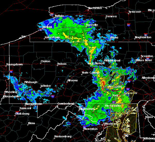 Radar Image for Severe Thunderstorms near Tower City, PA at 4/26/2019 3:50 PM EDT