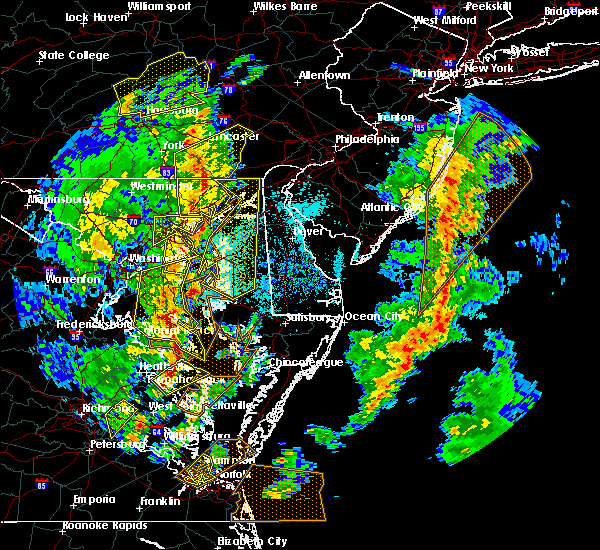 Radar Image for Severe Thunderstorms near St. Leonard, MD at 4/26/2019 3:56 PM EDT