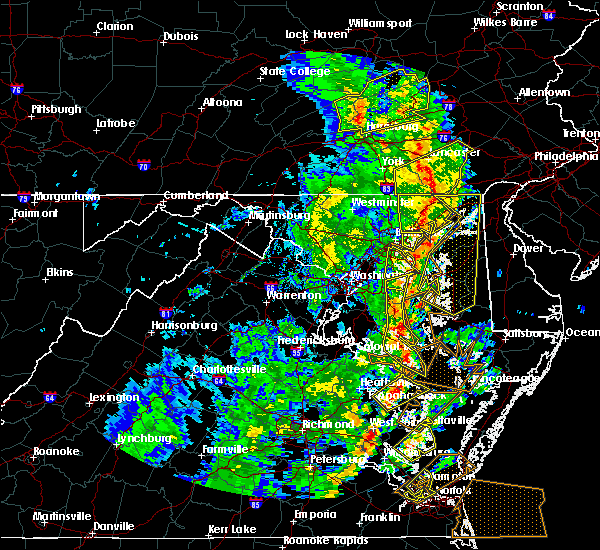 Radar Image for Severe Thunderstorms near Parkville, MD at 4/26/2019 3:59 PM EDT