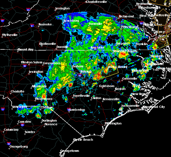 Radar Image for Severe Thunderstorms near Wilson, NC at 4/26/2019 4:34 PM EDT
