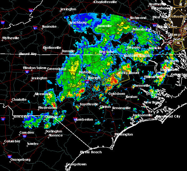 Radar Image for Severe Thunderstorms near Wilson, NC at 4/26/2019 4:46 PM EDT