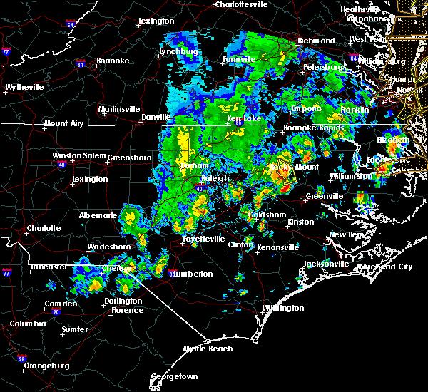 Radar Image for Severe Thunderstorms near Tarboro, NC at 4/26/2019 4:58 PM EDT